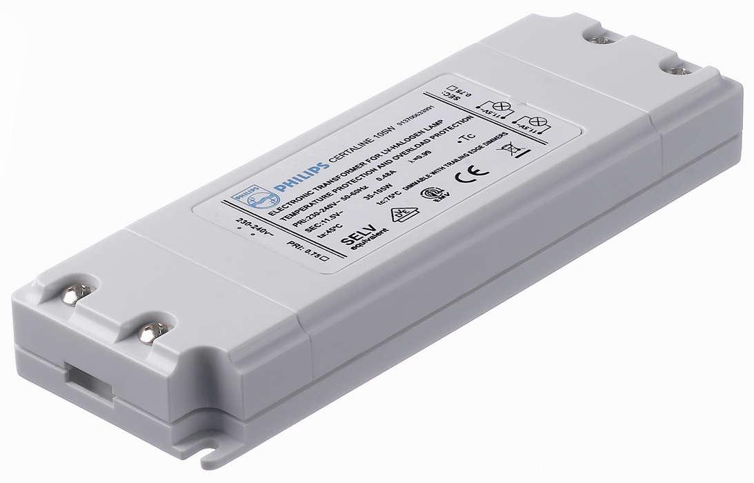 Certaline — чрезвычайно компактный электронный трансформатор для галогеновых ламп 12 В