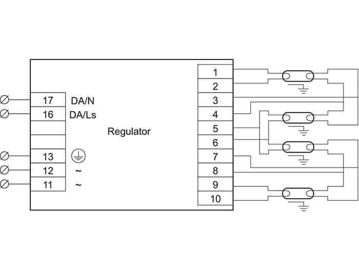 HF-Ri TD 4 lamps TL5/PL-L/TL-D