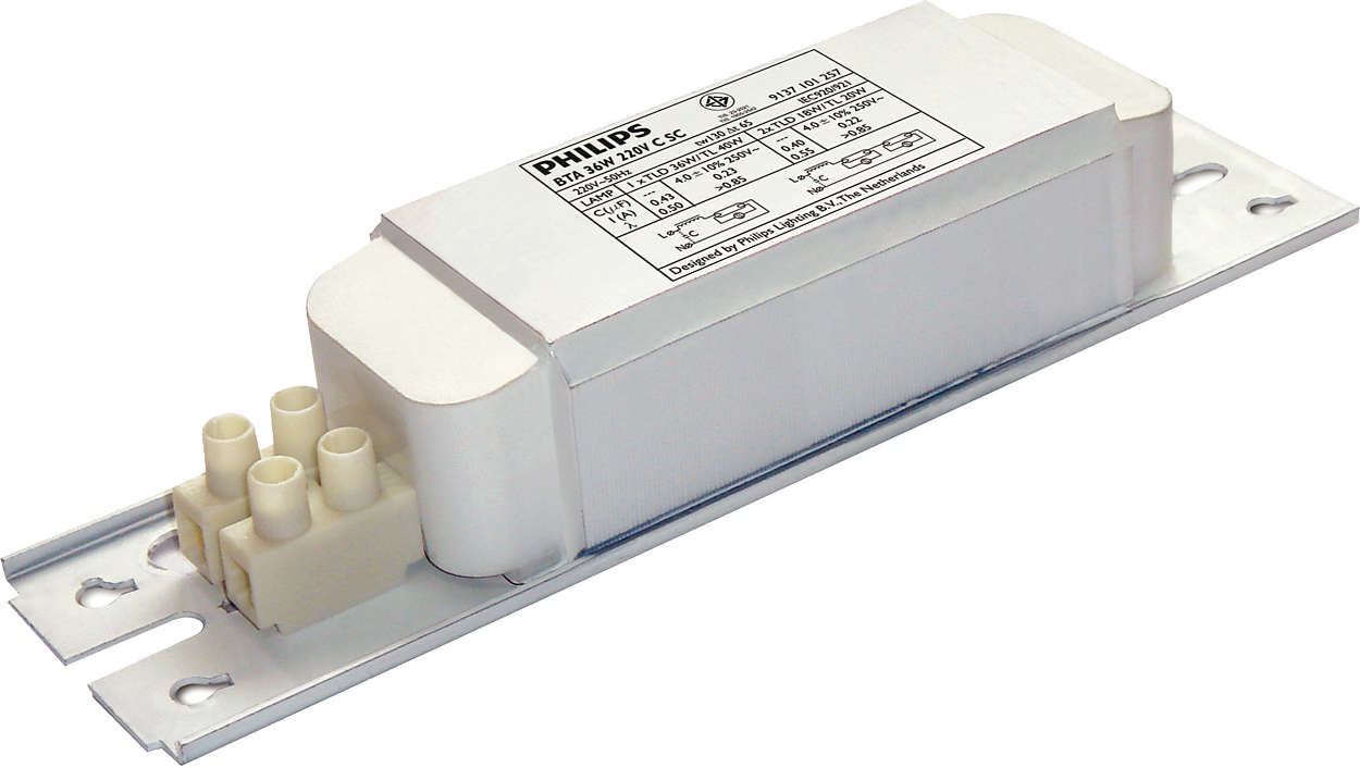 Standard electromagnetic ballast for fluorescent applications