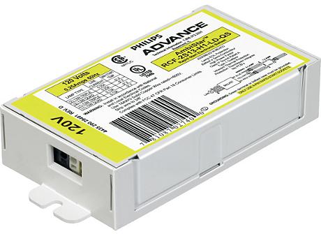 AMBISTAR ELE BALLAST (2) 13W CFL (4-PIN) 120V