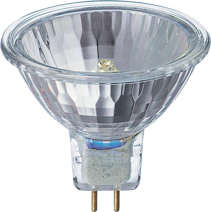 Energy efficient low-voltage halogen reflector lamps