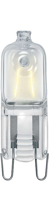 The new halogen mains-voltage capsule. Compact shape, crisp white light