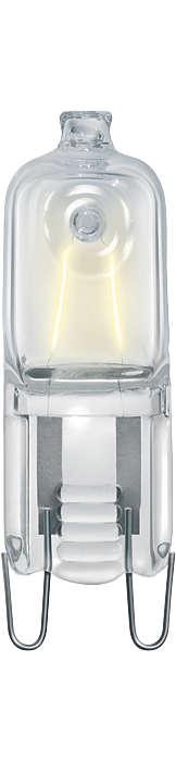 The new halogen mains-voltage capsule. Compact shape, crisp white light