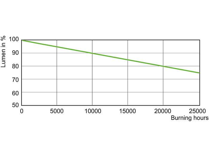 SON-T 1000 W Lumen Maintenance