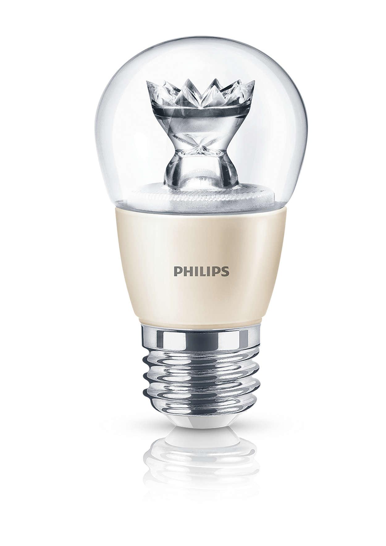 Los focos LED tipo vela transparentes le dan brillo al hogar