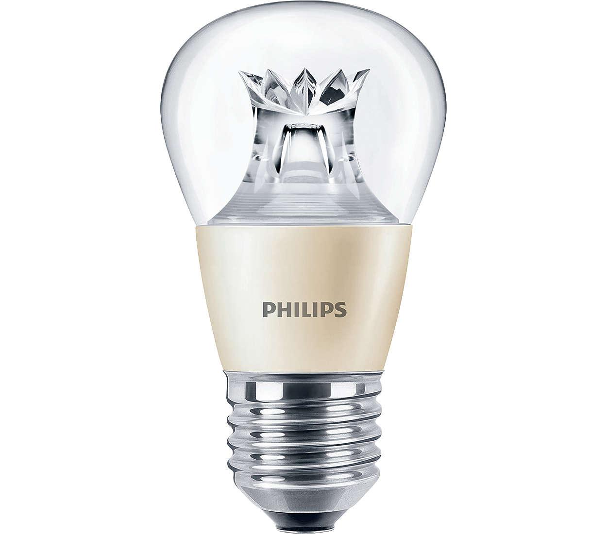 MASTER LEDlusters – лампы с привлекательным дизайном для люстр и декоративных светильников.