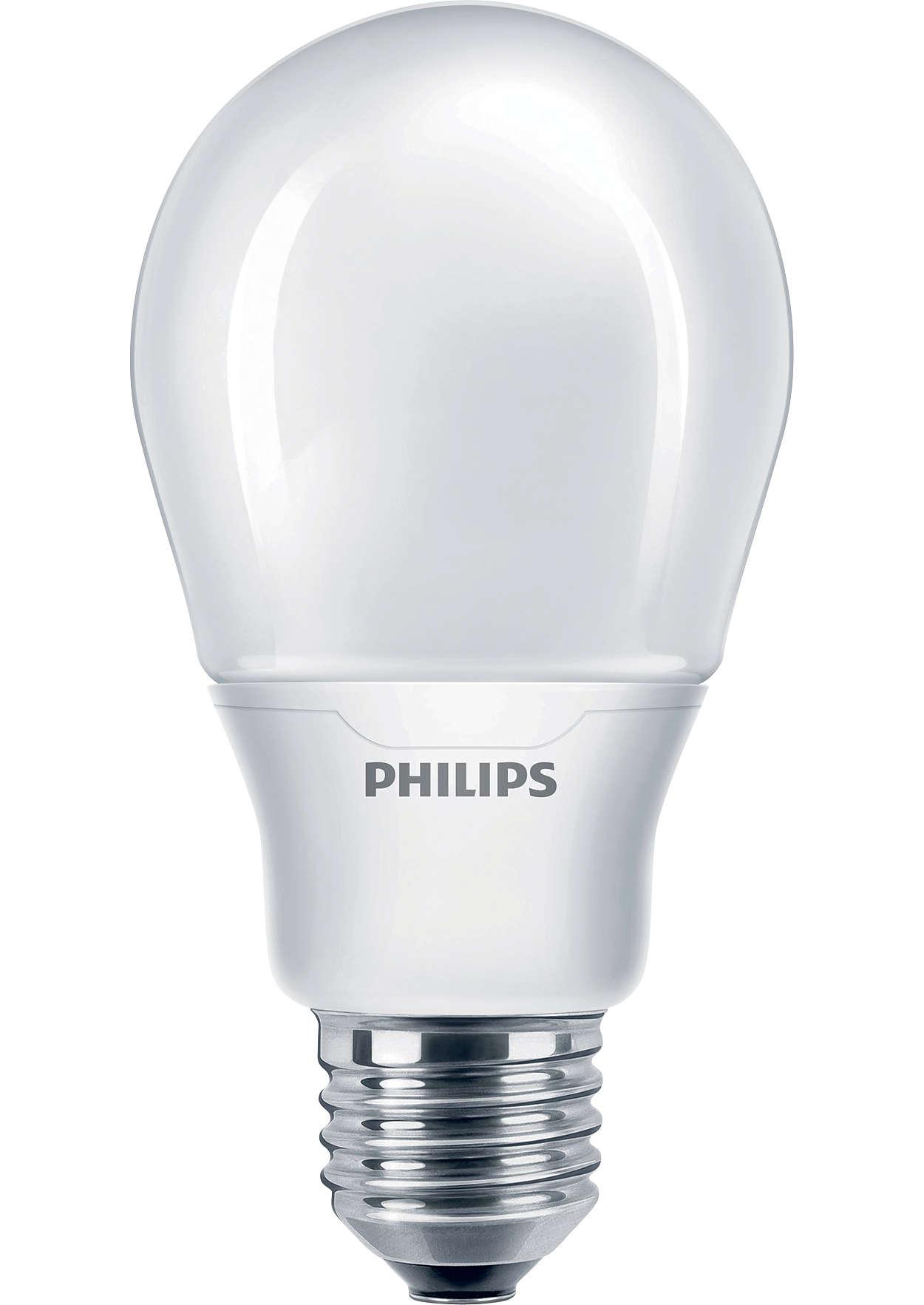 Энергосберегающая лампа создает интимную и уютную атмосферу