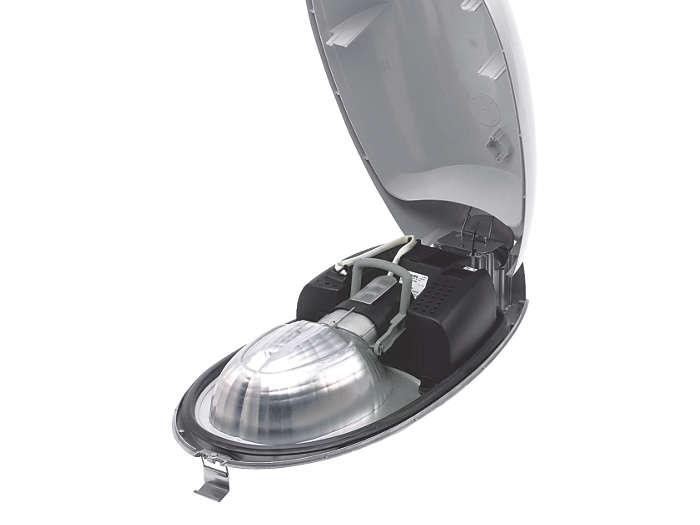 """""""Opti-C"""", als de reflector een eenheid vormt met de kom en de lamphouder aan de reflector is bevestigd."""