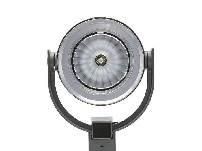 Luminaire d'éclairage urbain UrbanScene CGP700 avec optique à faisceau extensif (60º)
