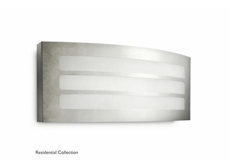 Grove wall lantern inox 1x23W 230V