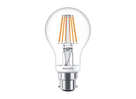 CLA LEDBulb D 8-60W A60 B22 827 CL