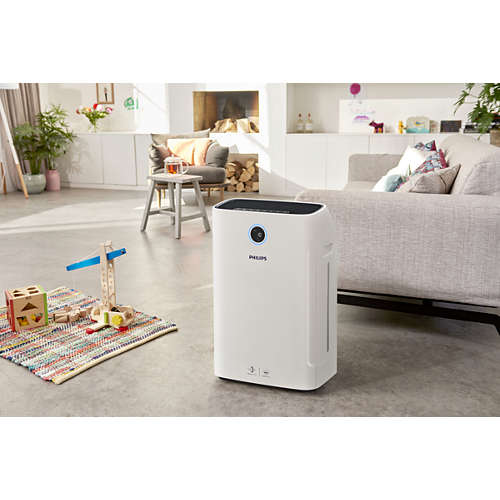 2-in-1 air purifier and humidifier