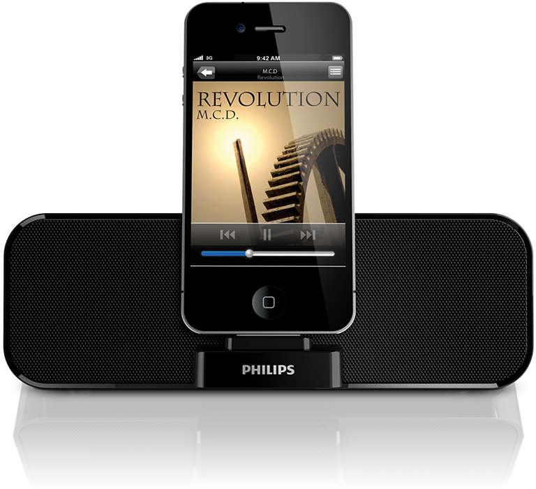 Слушайте музыку, сохраненную на iPod/iPhone