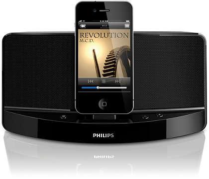 Desfrute de música do seu iPod/iPhone