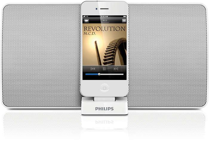 Слушайте музика с тонколона за поставяне на iPod/iPhone