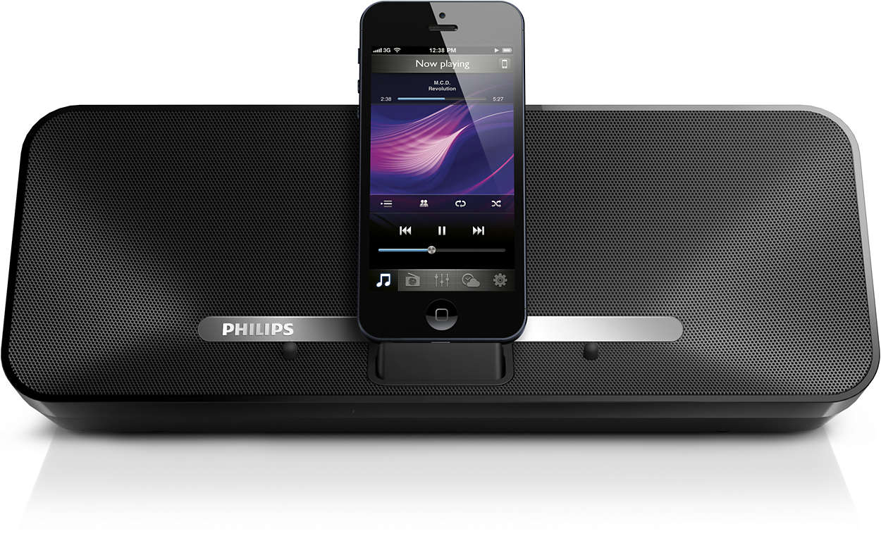 docking luidspreker met bluetooth ad385 12 philips. Black Bedroom Furniture Sets. Home Design Ideas