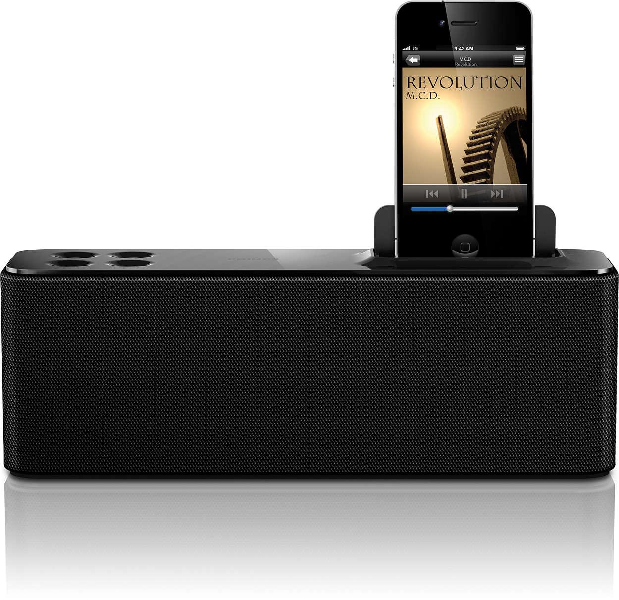 Nyt musikk fra iPod/iPhone