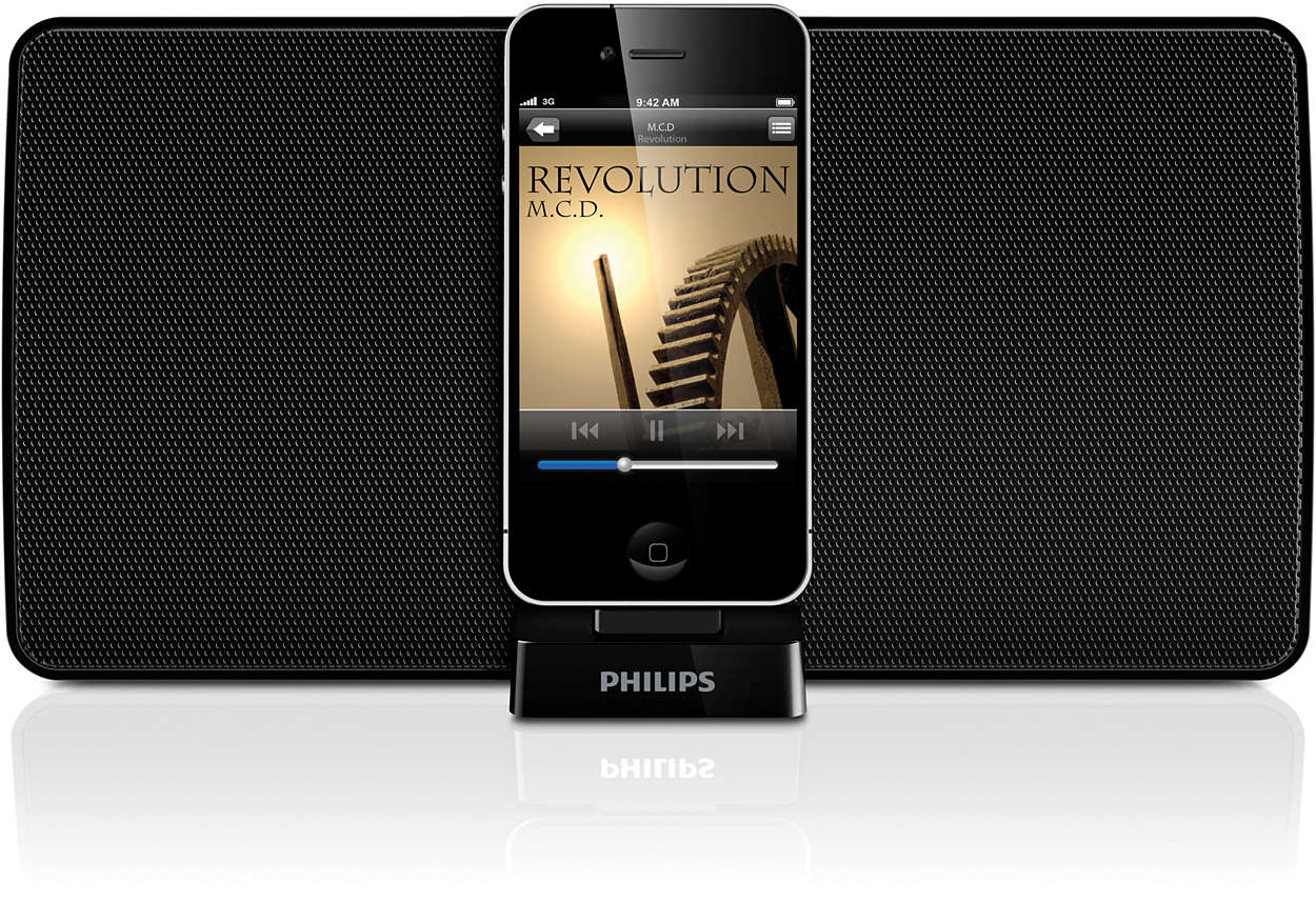 station d 39 accueil avec bluetooth ad530 12 philips. Black Bedroom Furniture Sets. Home Design Ideas