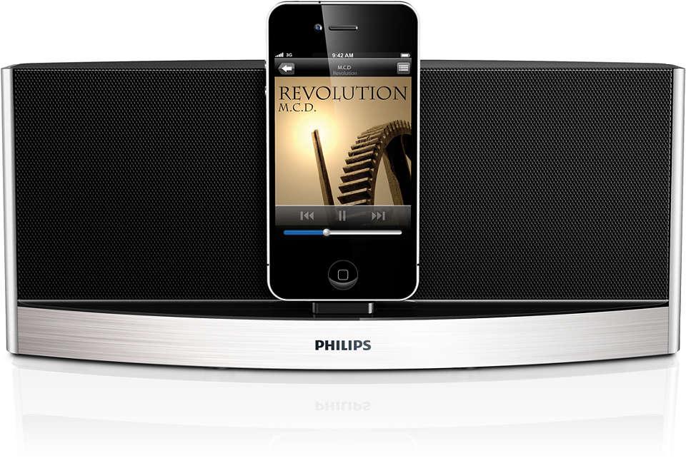 Musikken slippes fri trådløst via Bluetooth