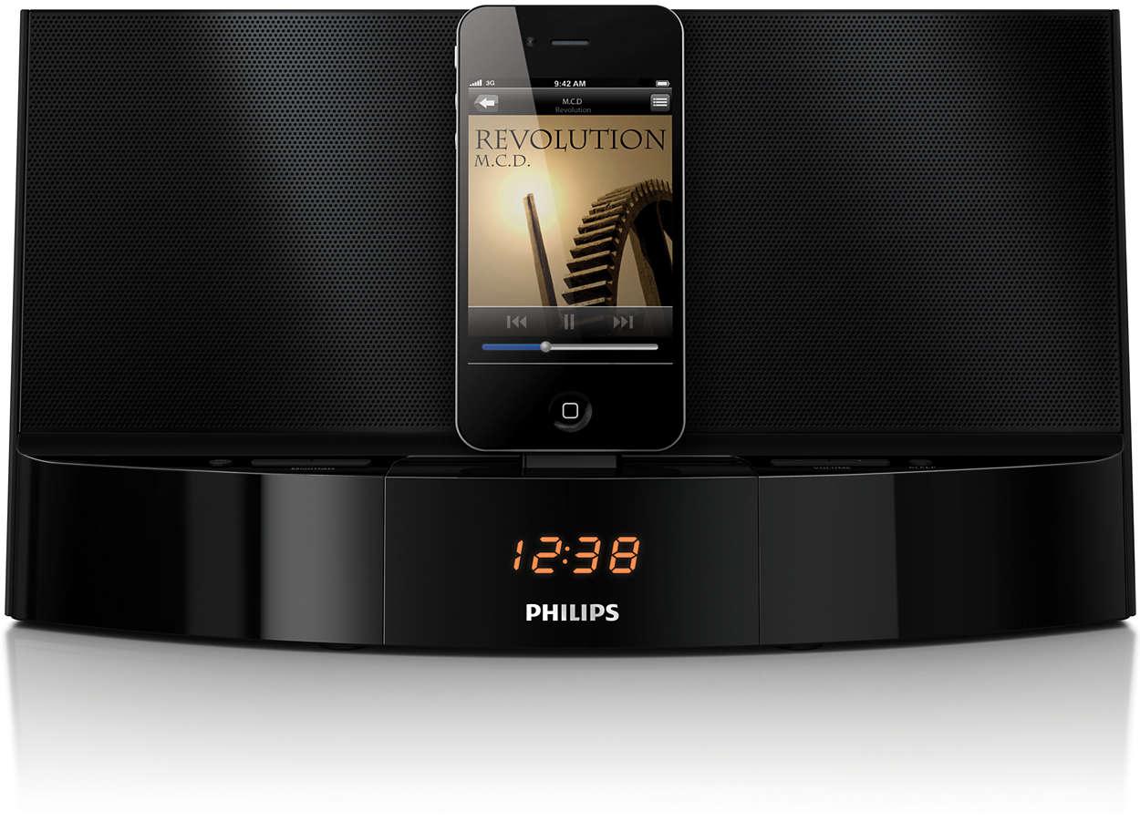 Воспроизведение музыки с устройств iPod и iPhone