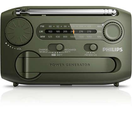 De ideale radio voor al uw buitenactiviteiten