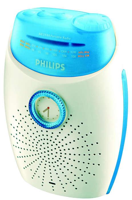 Radio AM/FM portabil, rezistent la apă