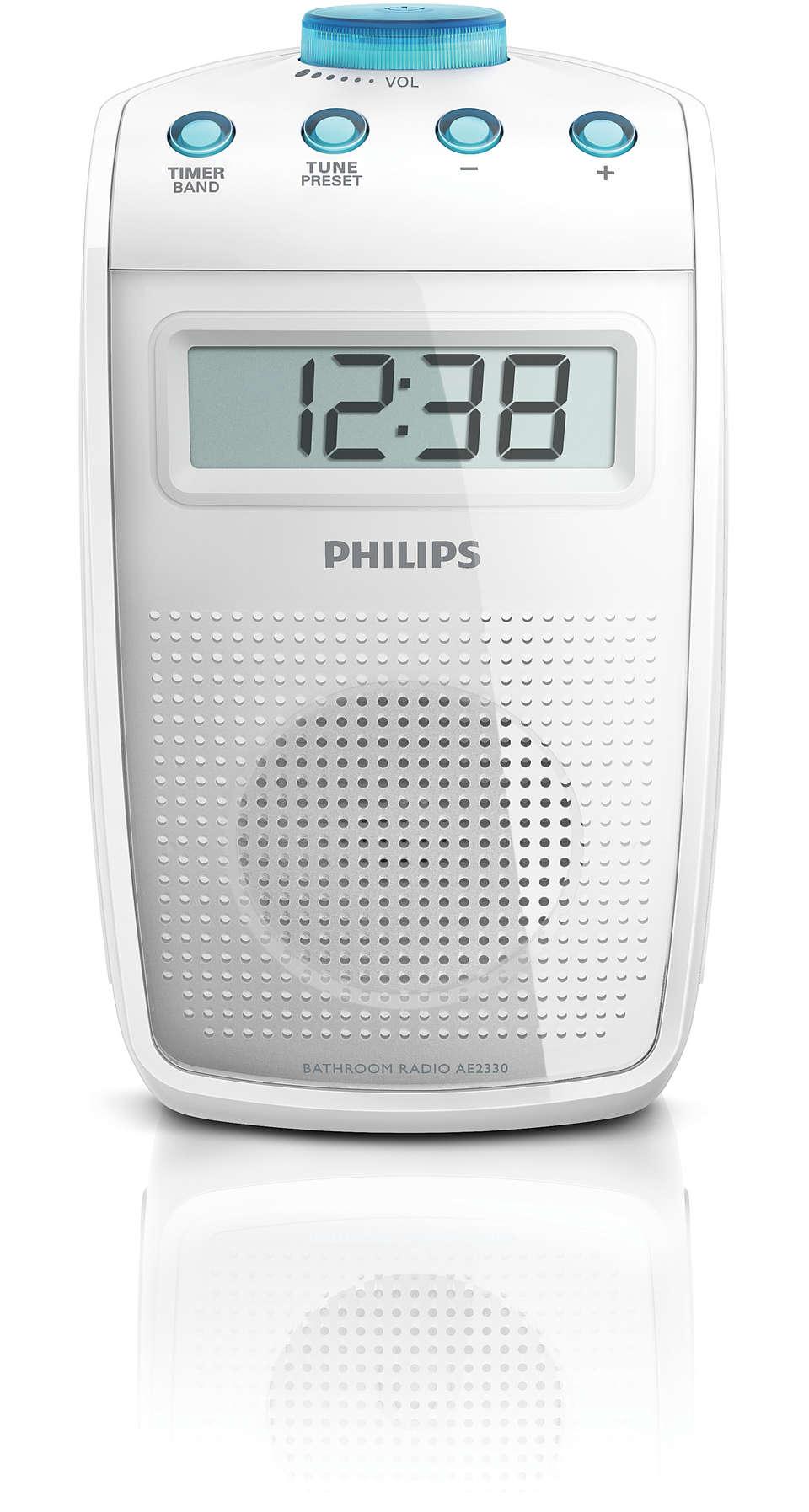 Spritzwasser geschütztes Badezimmer-Radio