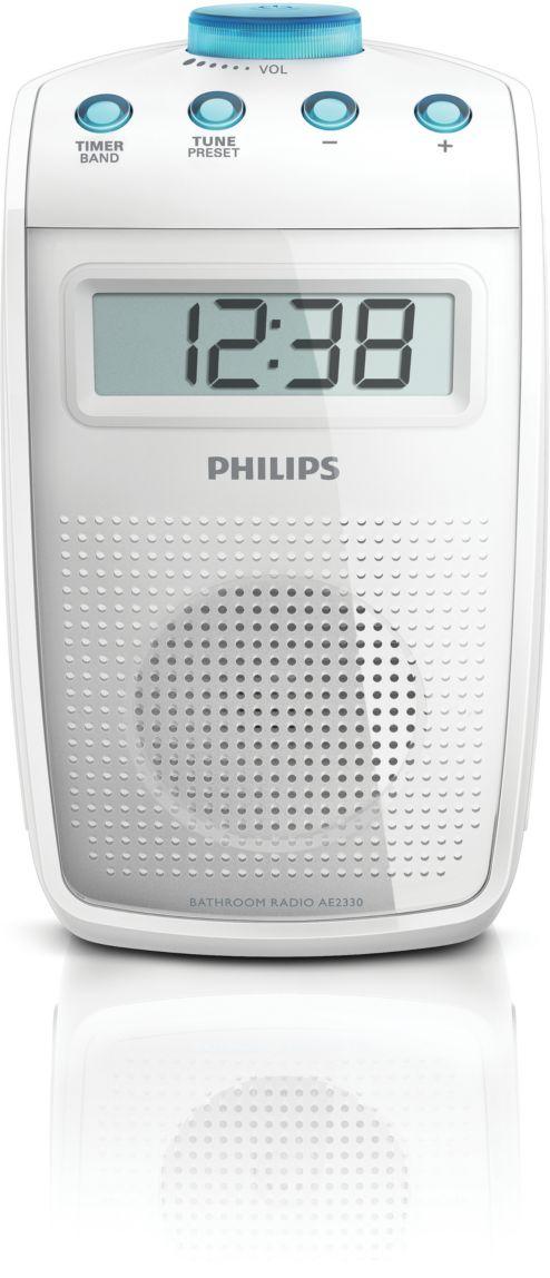 spritzwasser geschütztes badezimmer-radio ae2330/00 | philips