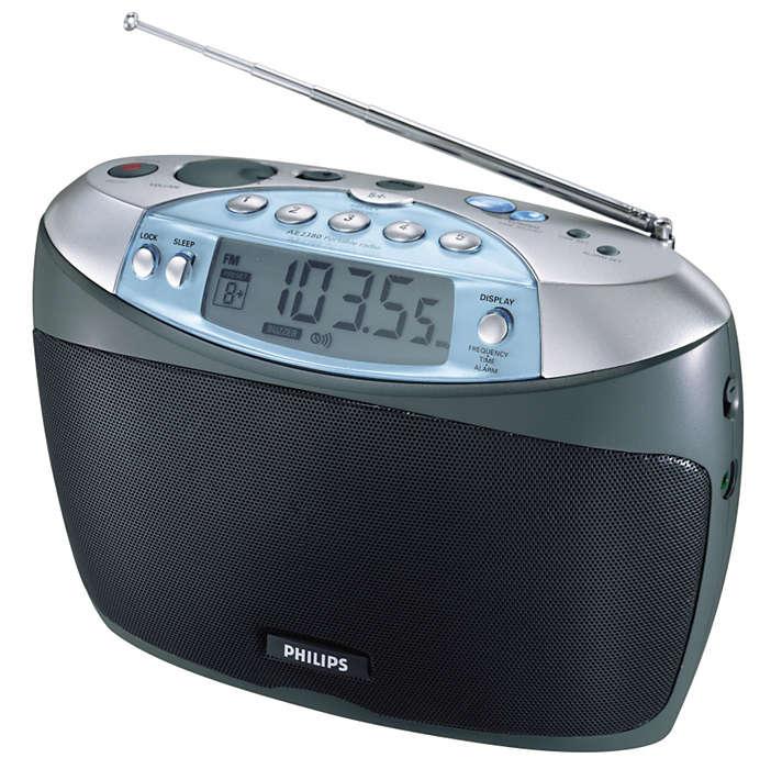 Sintonizador digital con 30 presintonías