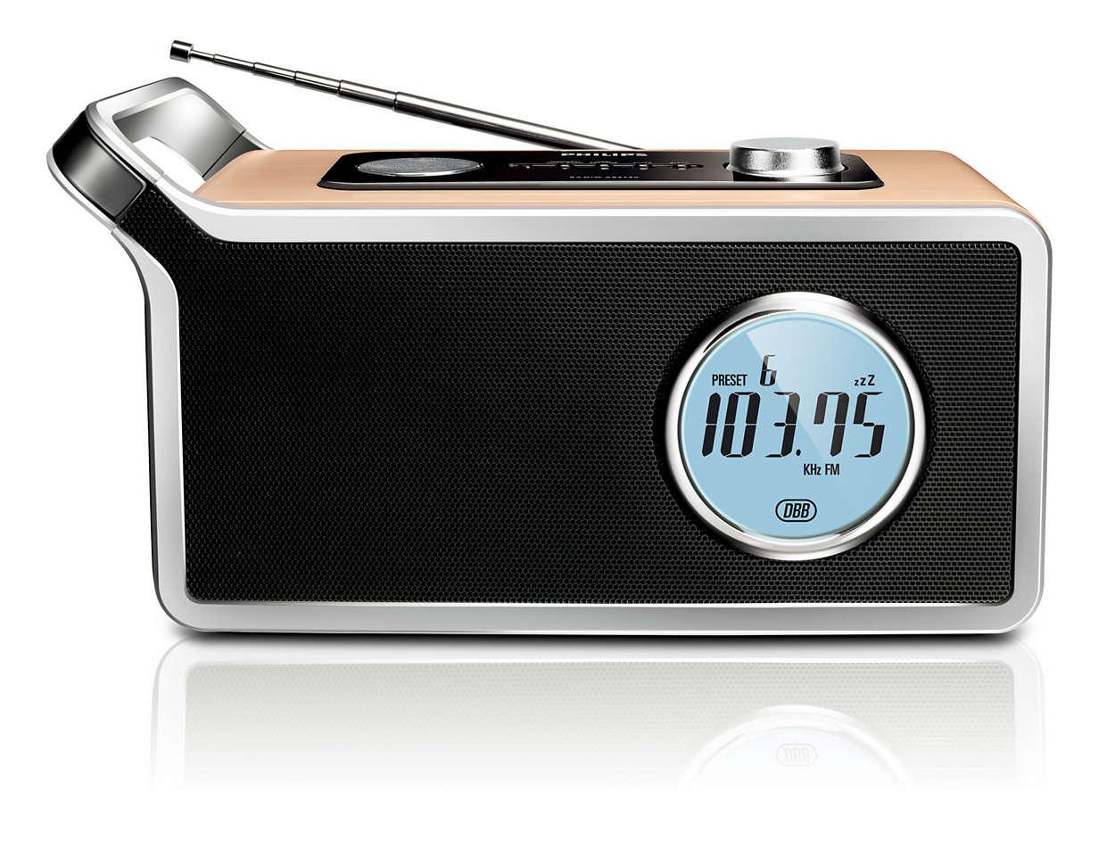 Postul de radio preferat, într-un design clasic