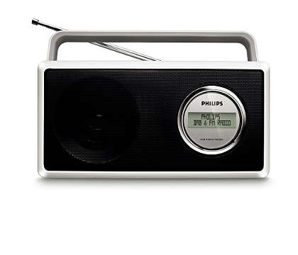 Enjoy DAB and FM radio in crystal clear sound