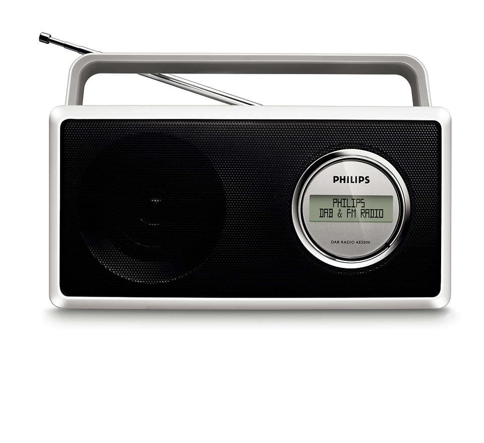 Nauti DAB- ja FM-radion selkeästä äänestä