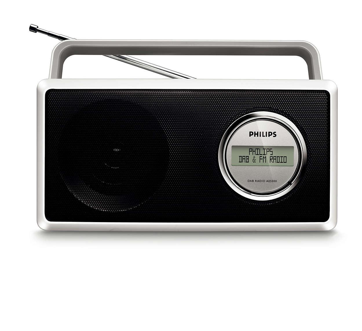 Nyt DAB- og FM-radio med krystallklar lyd