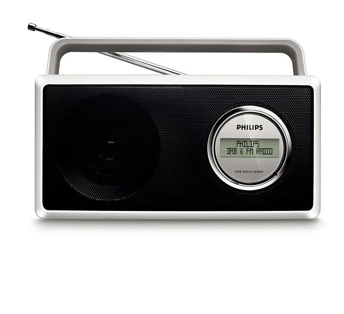 Du kan njuta av DAB- och FM-radio med kristallklart ljud