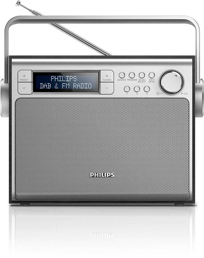 Flott lyd fra DAB+-radio overalt