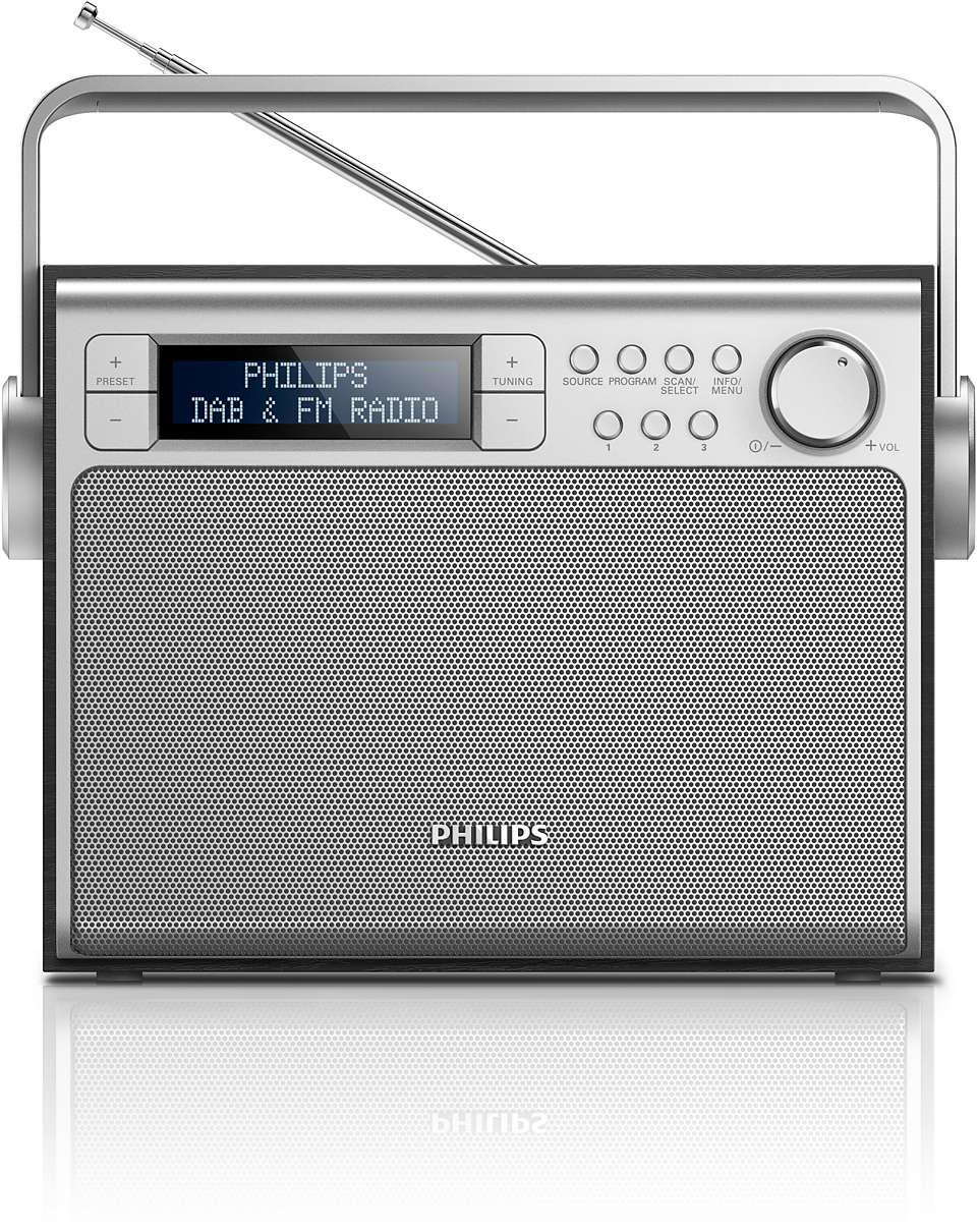 Чудовий звук із радіо DAB+ будь-де
