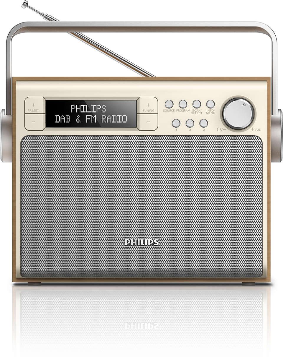Κορυφαίος ήχος από ραδιόφωνο DAB+, όπου κι αν είστε