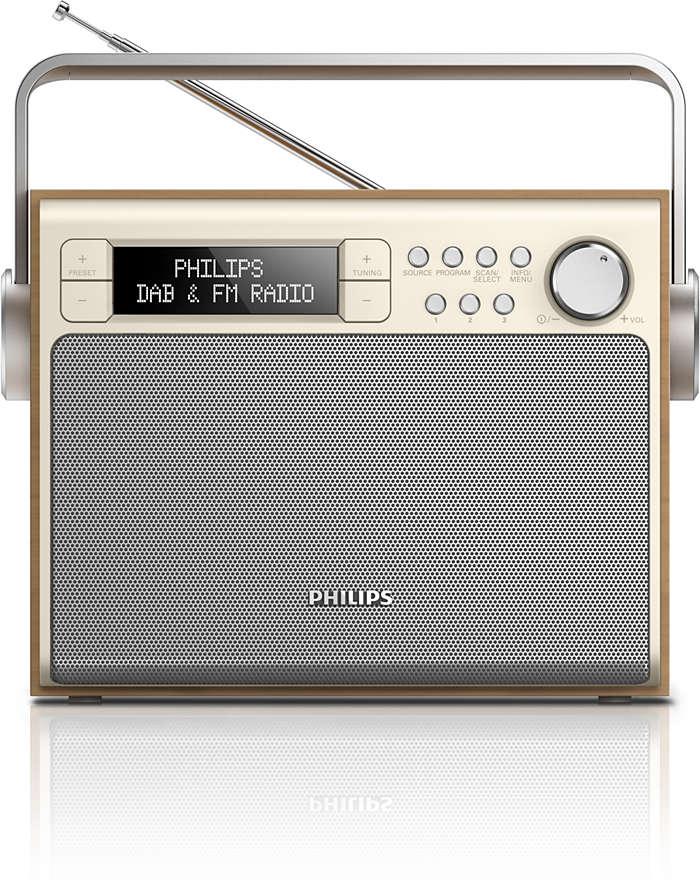 Óptimo som de rádio DAB+ em qualquer lugar