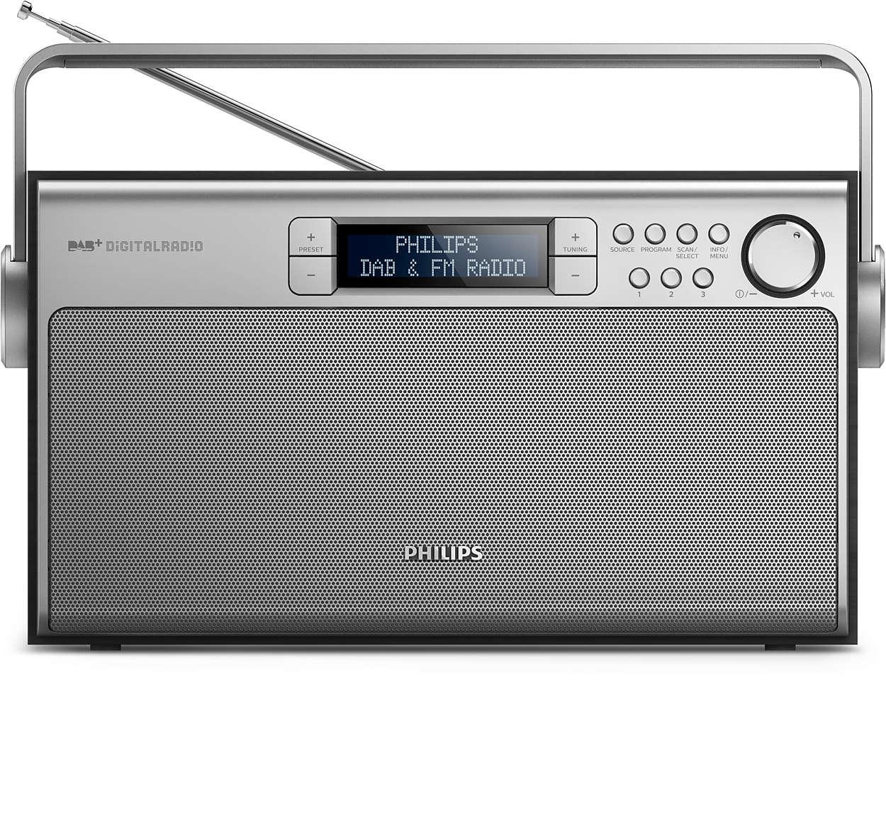 Überall hervorragender Sound mit dem DAB+-Radio