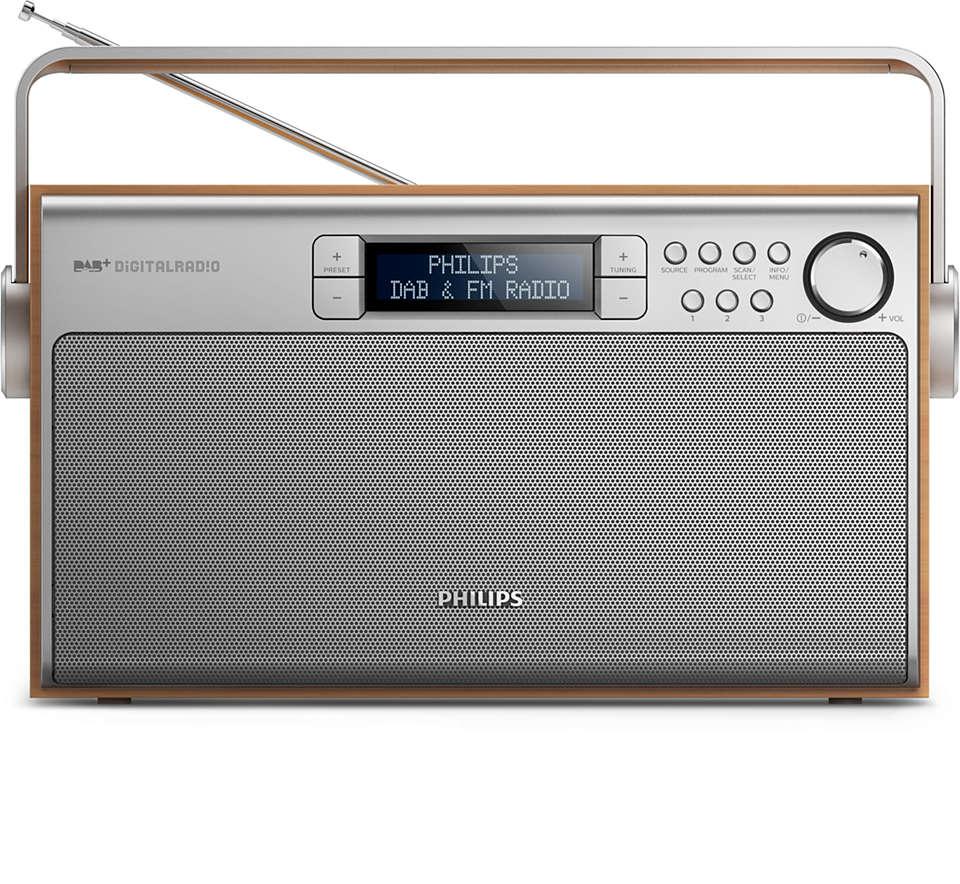 Une qualité de son exceptionnelle partout avec la radio DAB+
