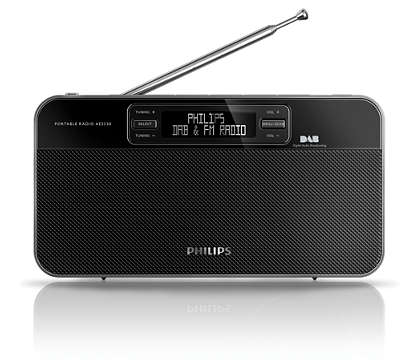 Great sound from DAB+ radio anywhere
