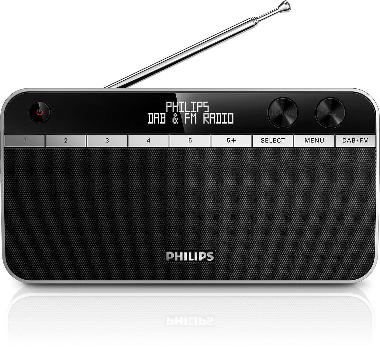 Escucha la radio DAB+ con un sonido excelente en cualquier lugar