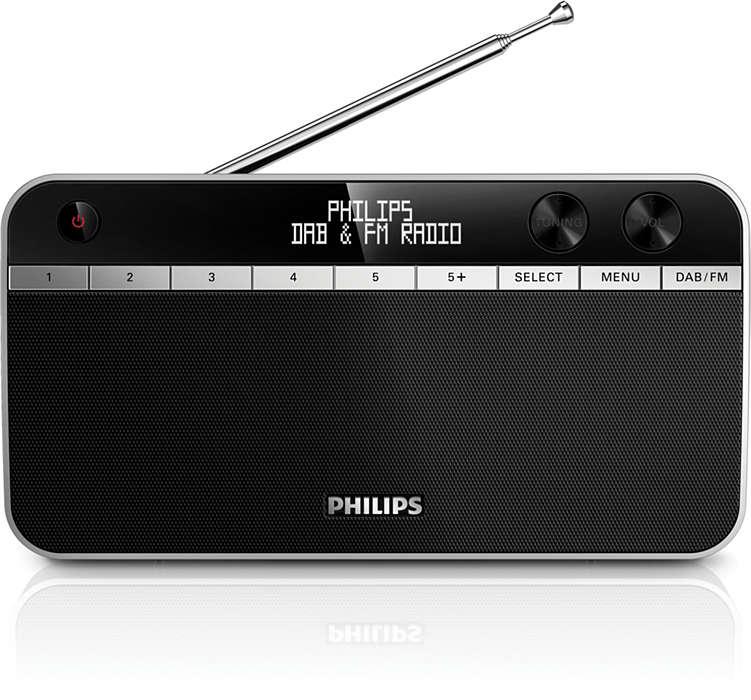 Fantastiskt ljud från DAB+-radio var som helst