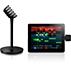 Microfone e o receptor sem fios