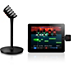 bezdrôtový mikrofón a prijímač