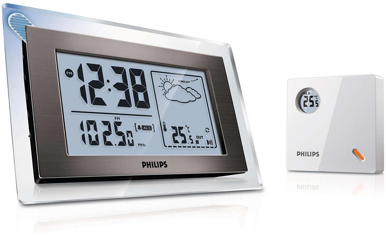 radiowecker mit wettervorhersage aj260 12 philips. Black Bedroom Furniture Sets. Home Design Ideas