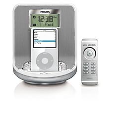 AJ300D/12  Rádio relógio para iPod/iPhone
