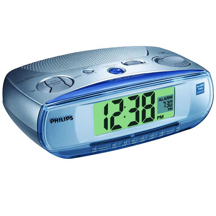 Visualización de la hora de alarma