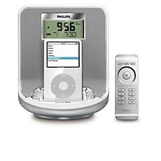 AJ301D/12  Klokradio voor iPod