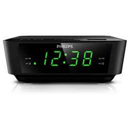 Digital tuning clock radio